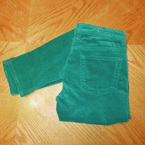 Kut From The Kloth Diana skinny green cords